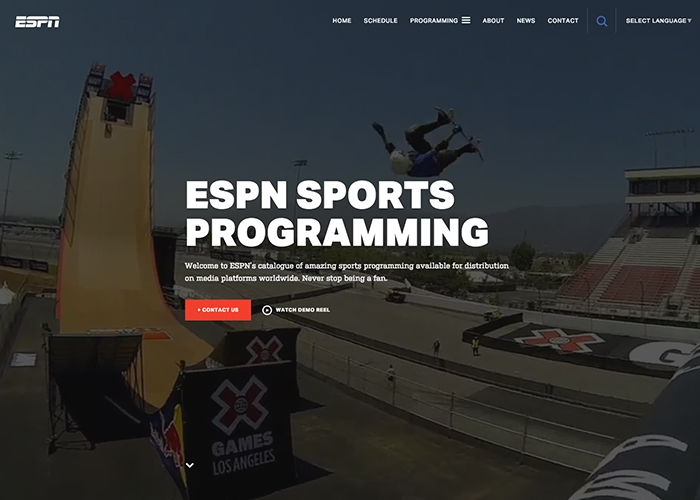 Website độc đáo - ESPN Sports Programming