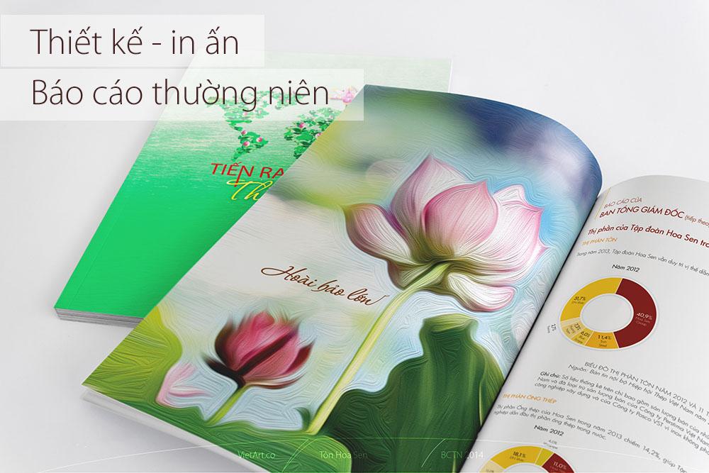 Thiết kế in ấn báo cáo thường niên