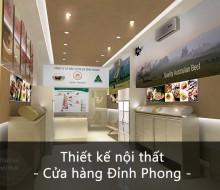 Nội thất cửa hàng Đỉnh Phong