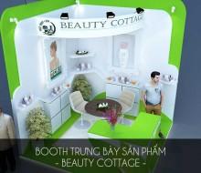 Booth trưng bày sản phẩm – Beauty Cottage