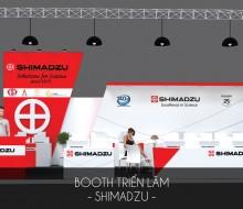 Gian hàng hội chợ Shimadzu