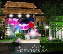 Gian hàng triển lãm Làng Sen Phúc Khang