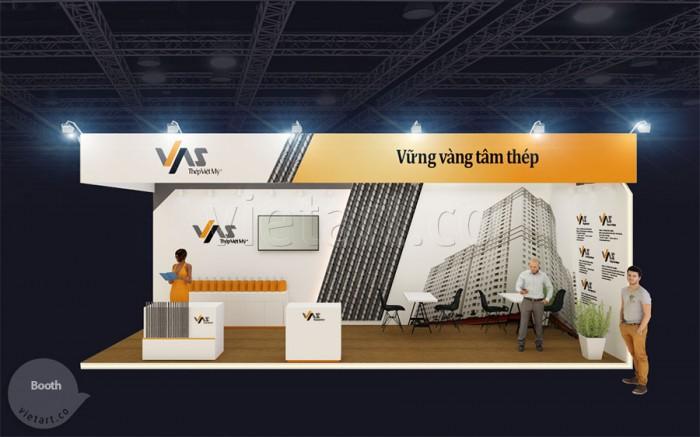 Gian hàng triển lãm Thép Việt Mỹ