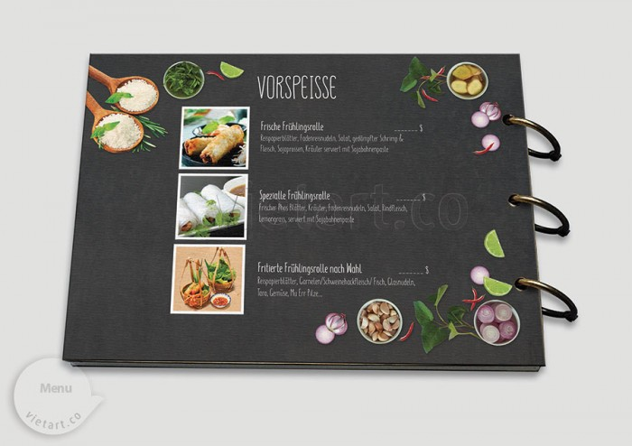 Mẫu thiết kế Menu Mai Cafe