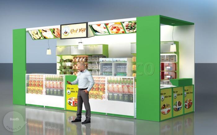 Booth bán hàng Quê Việt