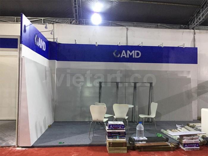 Mẫu thiết kế gian hàng AMD