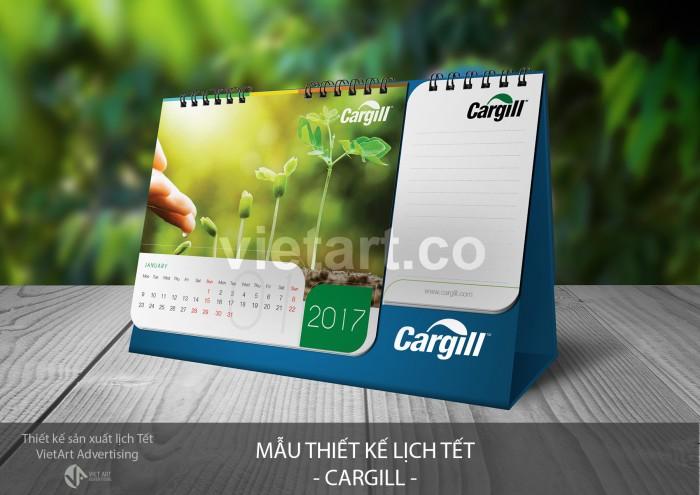 Mẫu thiết kế lịch tết CARGILL