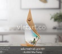 Mẫu thiết kế lịch tết ALANA Nha Trang