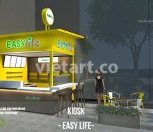 Thiết kế Kiosk trà sữa EASY LIFE