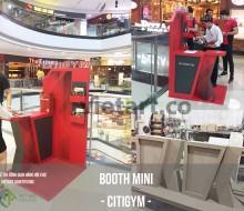 Booth bán hàng mini – thiết kế sản xuất mẫu booth CITIGYM –